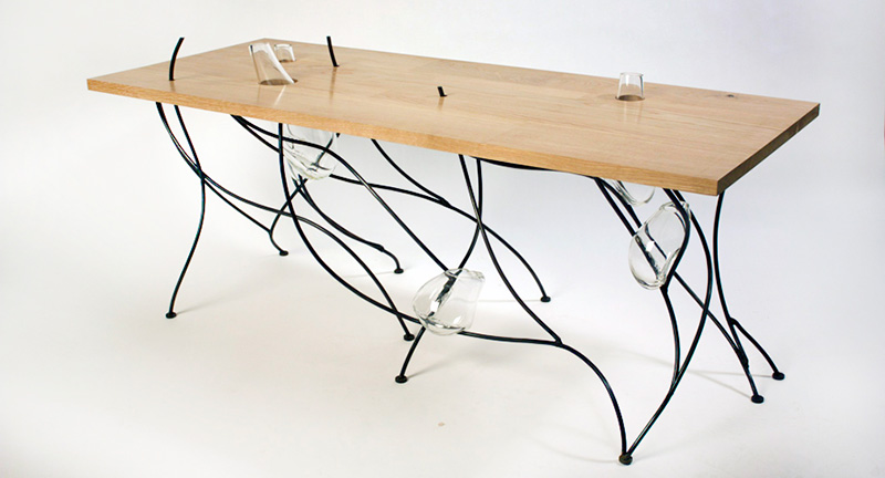 Sweep Table Inspired by Japanese Rock Gardens 2