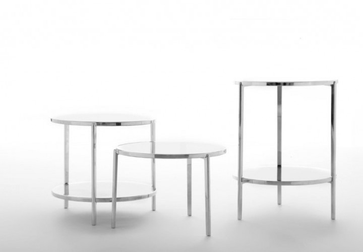 Tambour side table collection 1