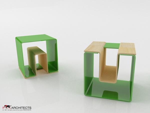 UN eco-friendly multifunctional Stool 3