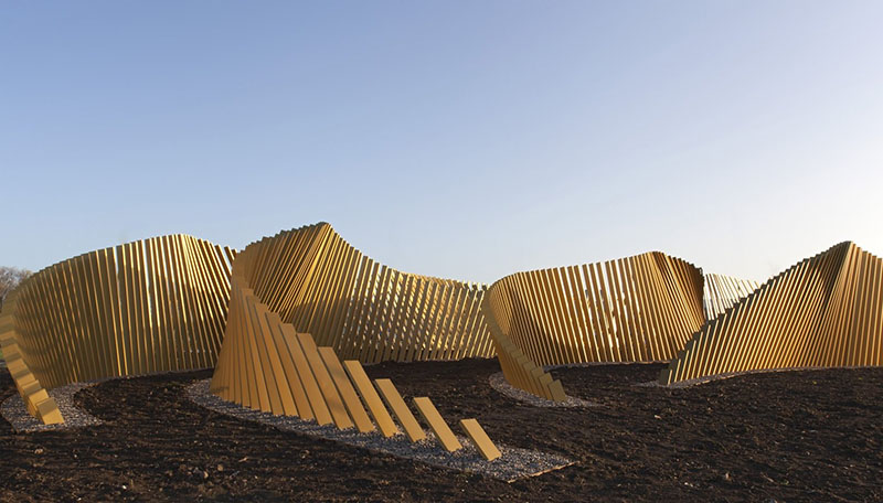 Blaze Sculpture in Middlesbrough by McChesney Architects