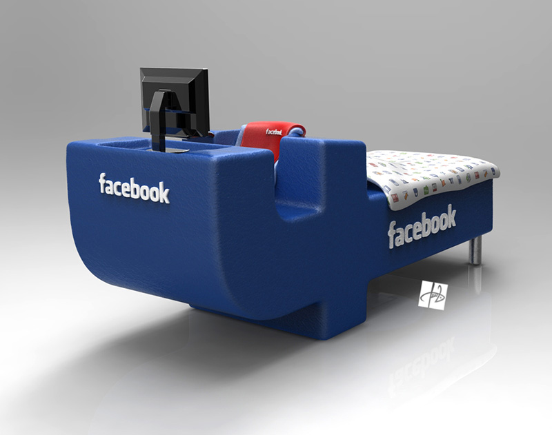 FBed concept Facebook Bed 5