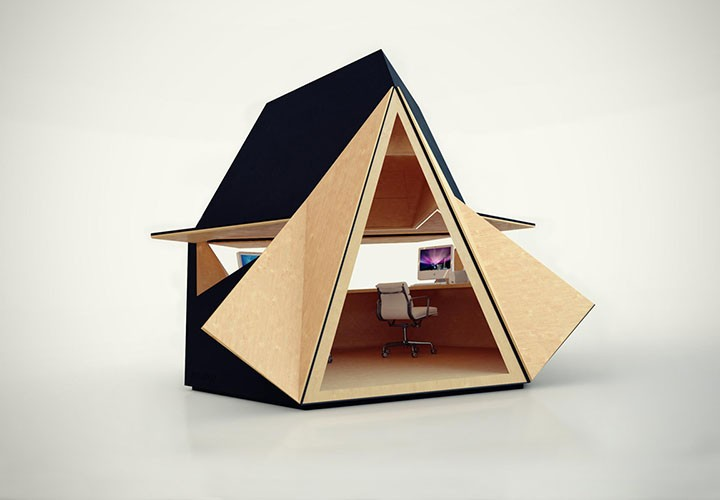 Modern Garden office Tetra Shed