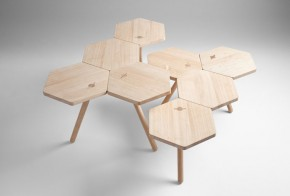 Lean Oak Tables by Coordination