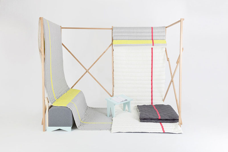 Soft Fold Cabane by Marie Dessuant and Margaux Keller