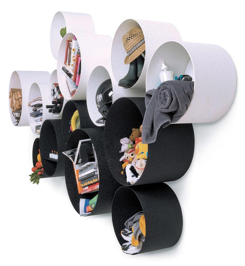Tubola round wall-mounted storage shelves 3