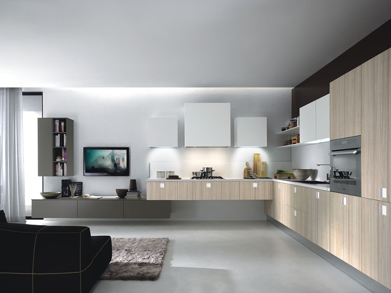 Quadra Kitchen with Square Handle
