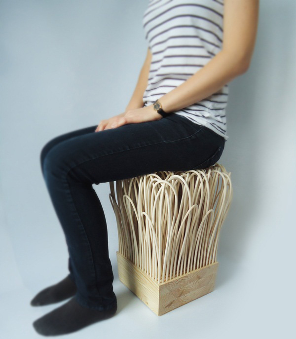 Lightweight Rattan Stool 1