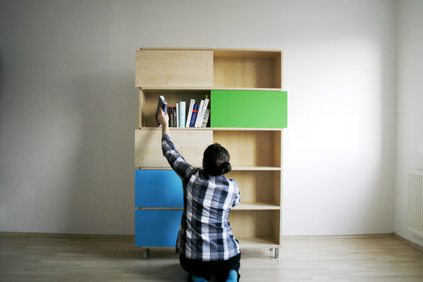 Hide & Show Bookshelf by Miriama Balazova 4
