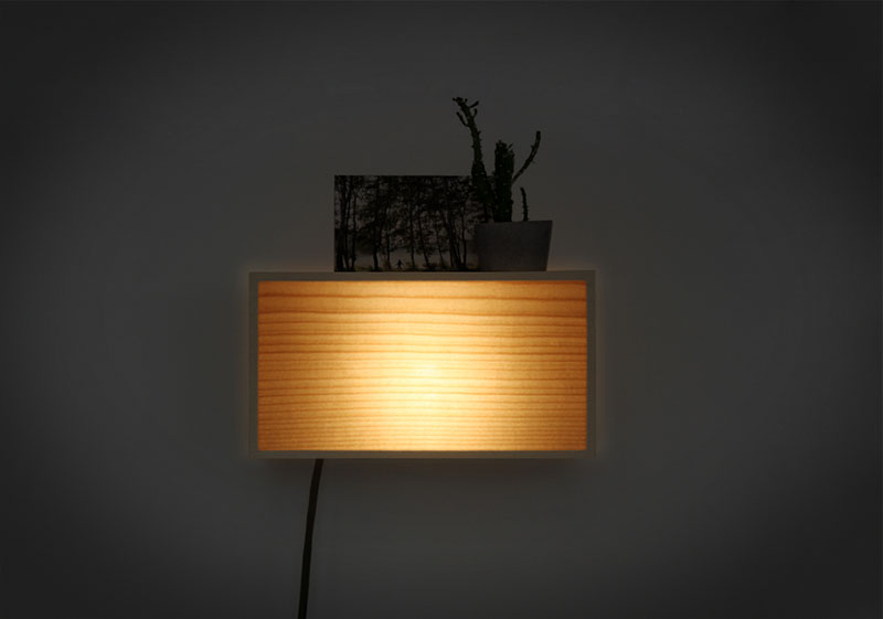 Kibako wall lamp by mathias asta and louis maucout kibako wall lamp mozeypictures Image collections