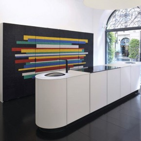 Colorful Mosaic Kitchen by GD Cucine and Cotto Veneto