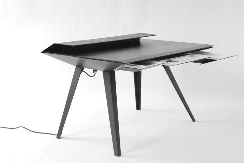 Desk 117 - A Minimalist Work Desk with Smart Cable Management