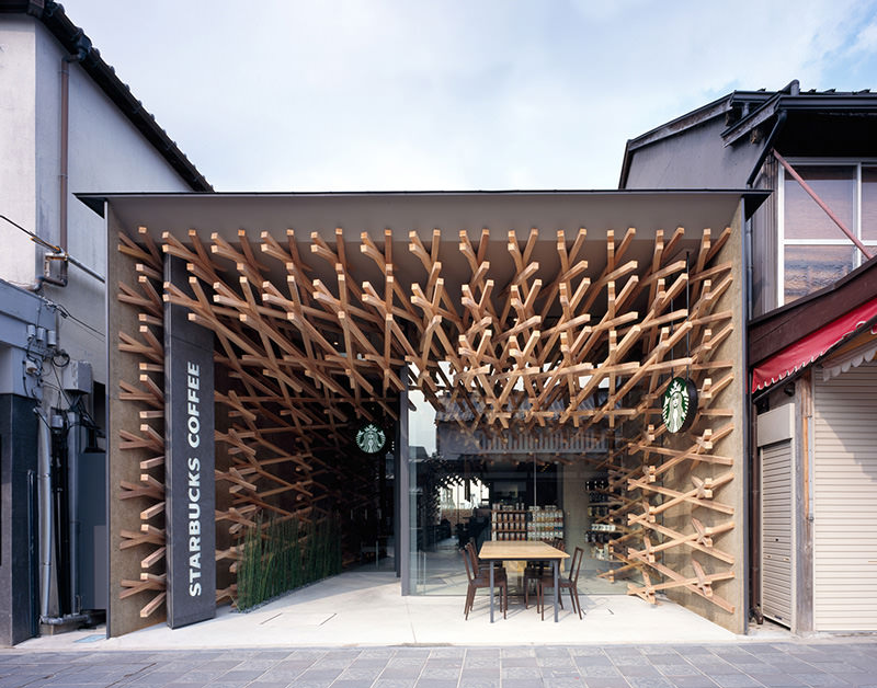 Starbucks Coffee Shop Interiors by Kengo Kuma and Associates