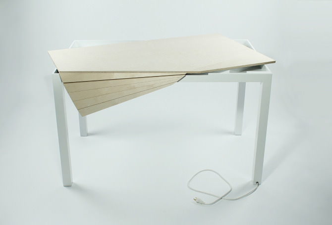 Tambour Table by Michael Bambino
