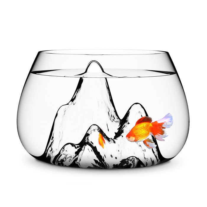 Fishscape Glass Fish Bowl by Aruliden for Gaia & Gino