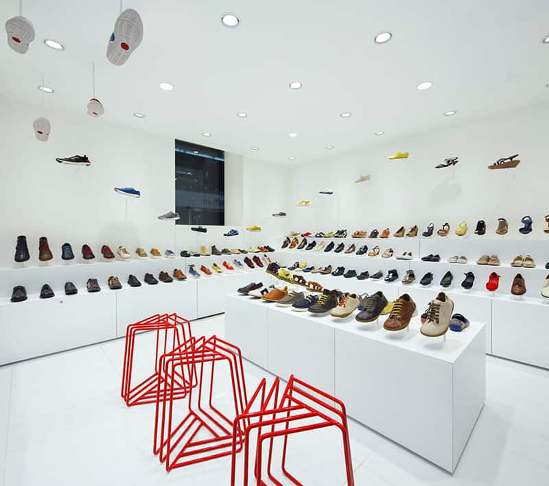 Camper Store Interior in Osaka by Nendo