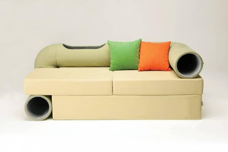 Cat Tunnel Sofa by Seungji Mun
