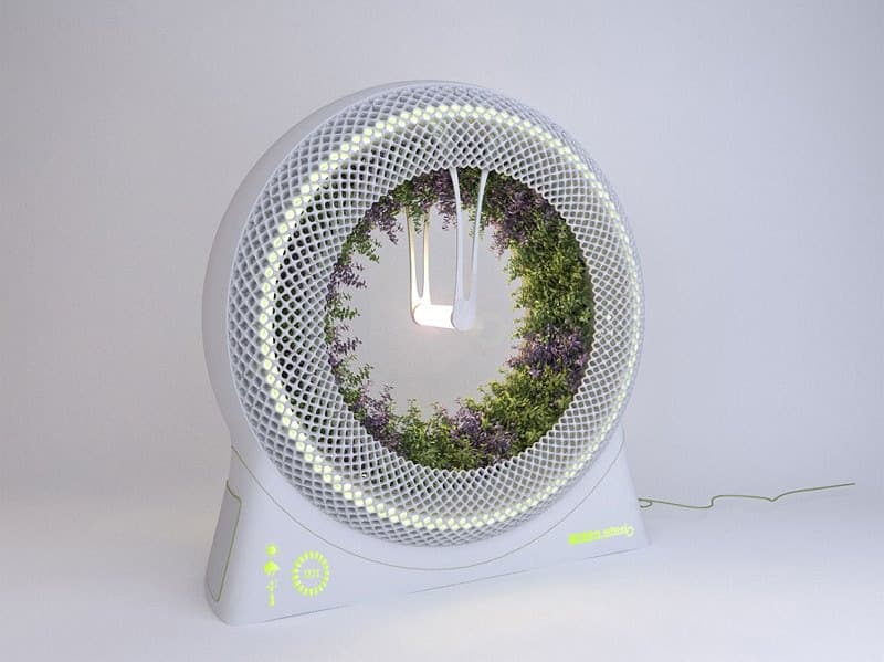 The green wheel indoor gardening concept by designlibero for Indoor gardening system