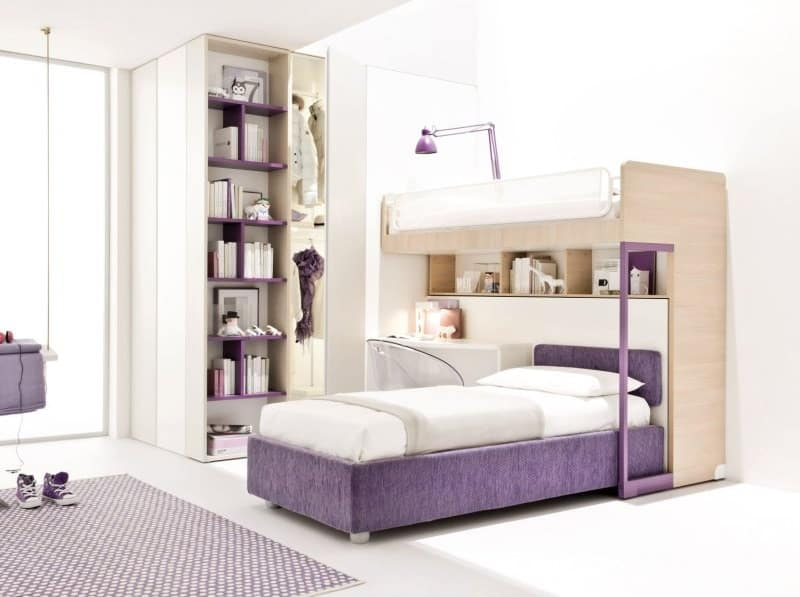 Children Bedroom Design with Wardrobe and Ladder