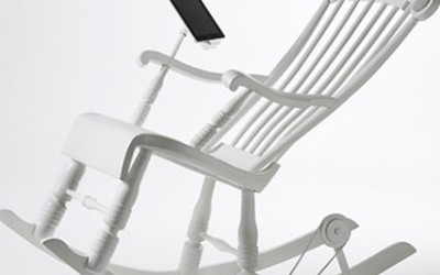 iRock Rocking Chair with Charging Dock and Speakers