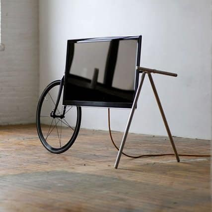 Unique Portable TV Stand by Taylor Levy and Che-Wei Wang