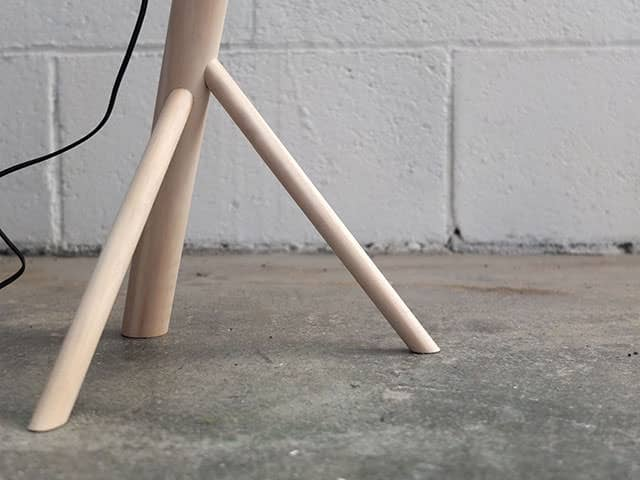 Dowel Lamp by Riley Sanders