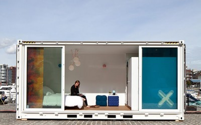 Sleeping Around – Unique Pop-Up Shipping Container Hotel