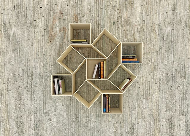 squaring wallmounted bookshelf by sehoon lee - Wall Hanging Book Shelf