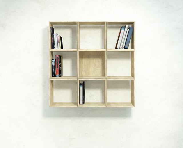 Squaring Wall-Mounted Bookshelf by Sehoon Lee