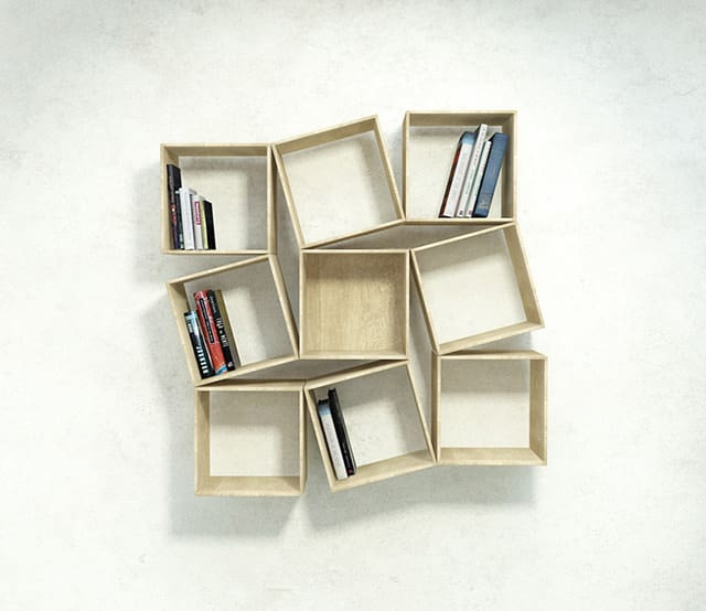 squaring wall mounted bookshelf by sehoon lee squaring bookshelf by sehoon lee wall - Wall Hanging Book Shelf