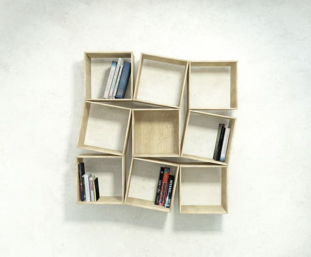 squaring wallmounted bookshelf by sehoon lee wall mounted wall mounted bookshelf - Wall Hanging Book Shelf