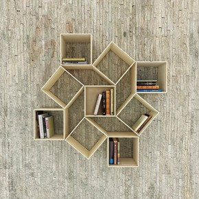 Squaring Bookshelf by Sehoon Lee