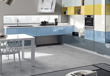 Tetrix Kitchen by Michael Young for Scavolini