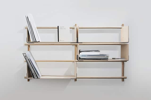 Foldin Modular Wall Shelving by etc.etc for EMKO