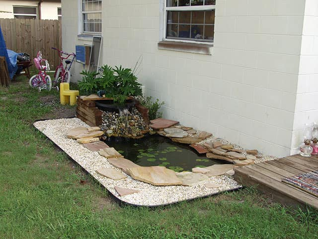 Backyard pond designs for Garden pond quotes