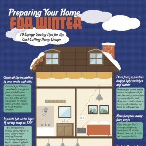 Winter Heating Infographic with 10 Energy-Saving Tips