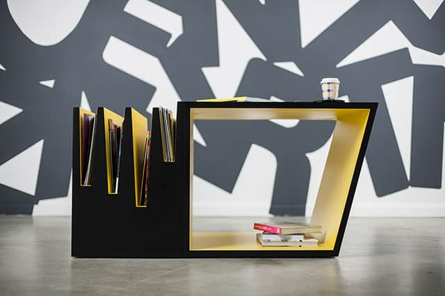 Coffee Table with built-in storage space by Brigada