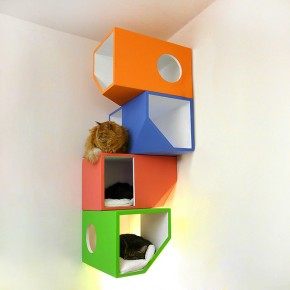 Catissa - Modern Four-Storey Cat Home
