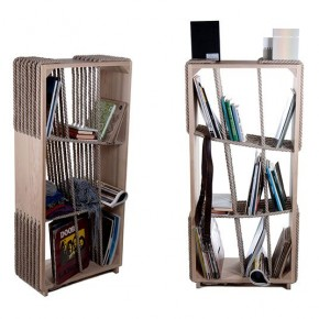 Cross-Ropes Bookshelf by Tamas Bozsik & Kata Mónus