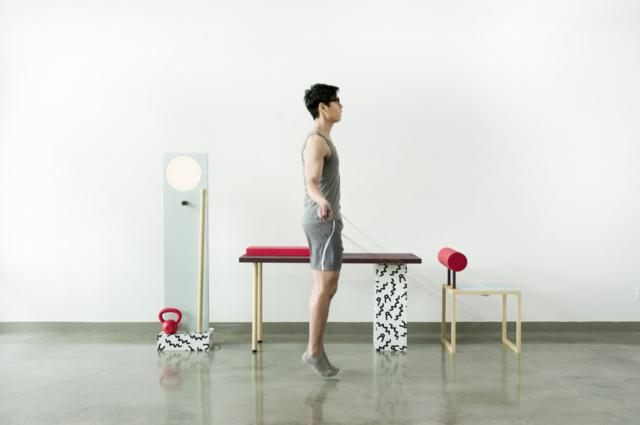 No, Sweat! workspace and workout furniture by Darryl Agawin