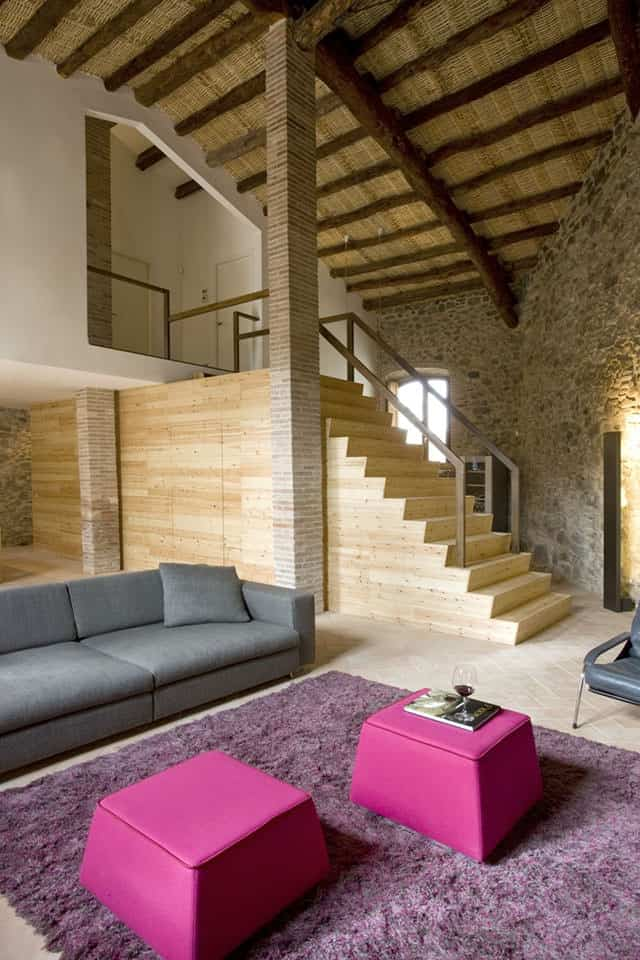 Old Mill Transformed into a House and Winery