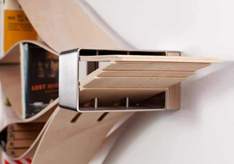 Chuck Flexible Wooden Wall Shelf by Natascha Harra-Frischkorn