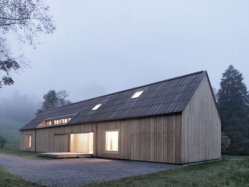 Haus am Moor Country Home by Bernardo Bader Architects