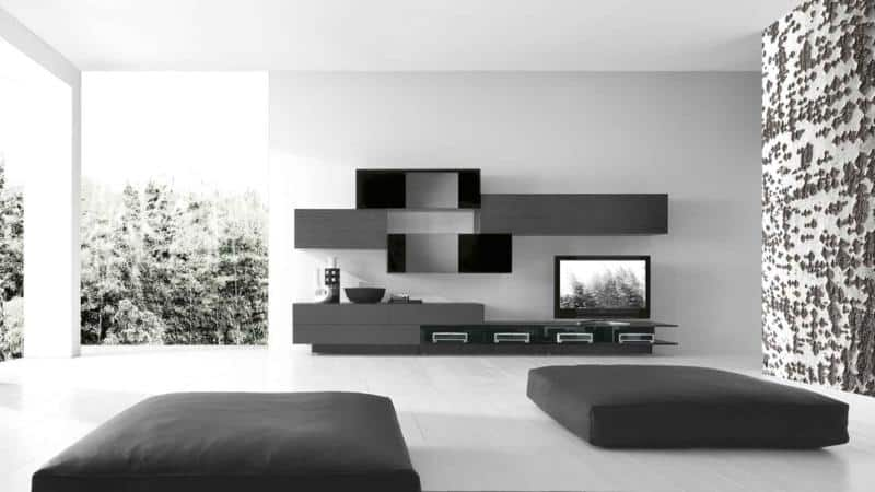 Modern Dark Living Room Furniture Design