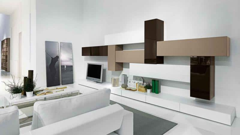 Modern Living Room with Storage Space