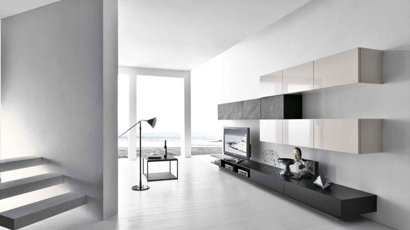 Black and Cream Modern Living Room Design