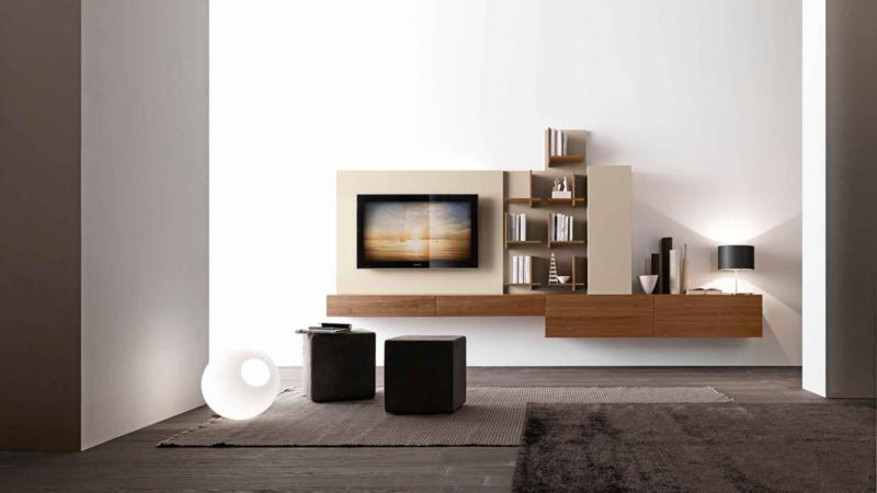 Modern Living Room Design with Bookcase
