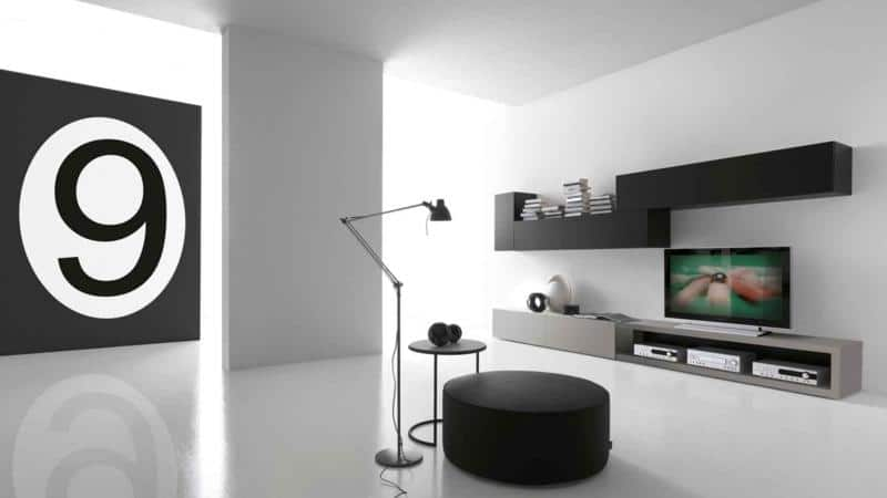 Minimal Two-Row Living Room Design