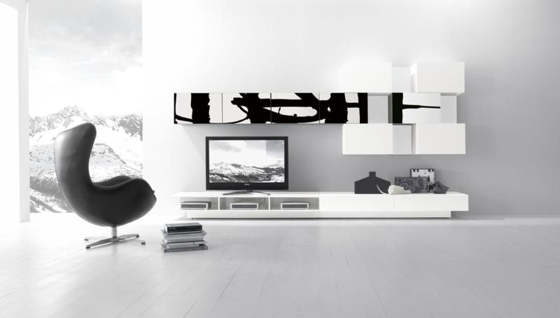 Modern White Color Living Room Furniture Design