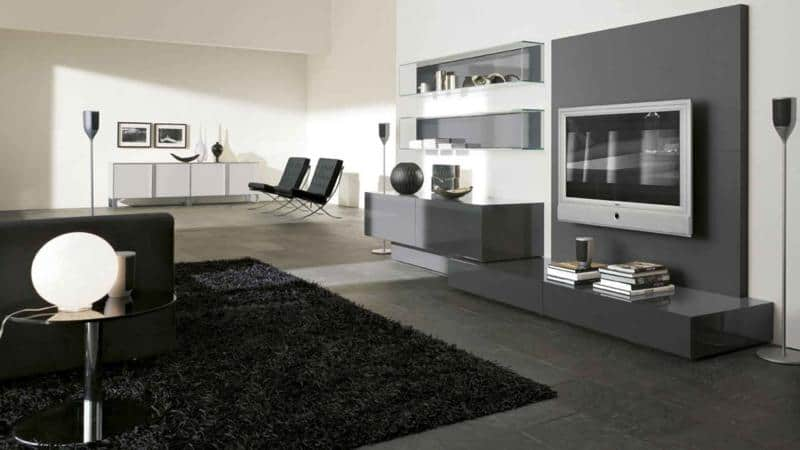 Modern Living Room Furniture Design with Storage Space