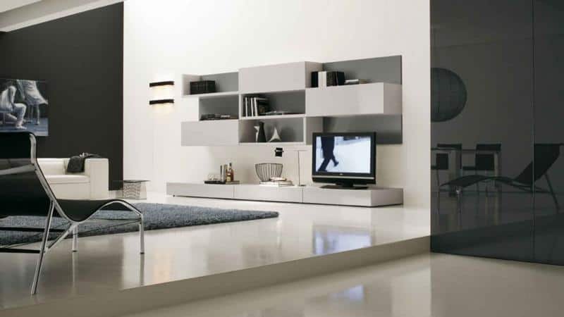 Modular Living Room Furniture Design with Storage Compartments